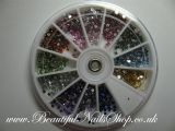 2mm Round Rhinestones 12 Colors 2400pcs